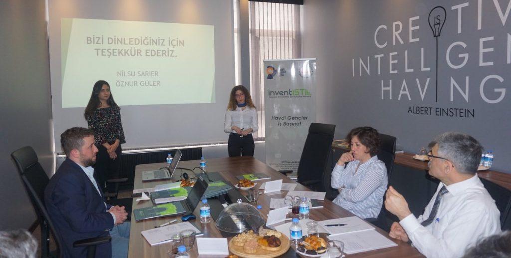 BİGGİST projesine başvuru yapan girişimci adayları jüriye iş fikirlerini anlatıyor